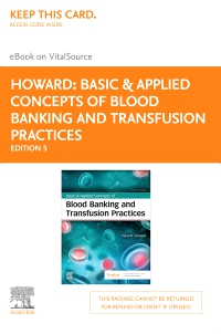 cover image - Basic & Applied Concepts of Blood Banking and Transfusion Practices - Elsevier eBook on VitalSource (Retail Access Card),5th Edition