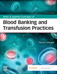 cover image - Evolve Resources for Basic & Applied Concepts of Blood Banking and Transfusion Practices,5th Edition