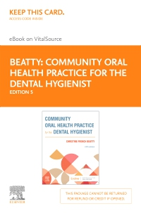 cover image - Community Oral Health Practice for the Dental Hygienist - Elsevier eBook on VitalSource (Retail Access Card),5th Edition