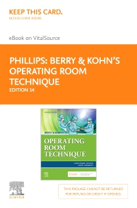 cover image - Berry & Kohn's Operating Room Technique - Elsevier eBook on VitalSource (Retail Access Card),14th Edition