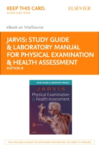 cover image - Study Guide & Laboratory Manual for Physical Examination & Health Assessment Elsevier eBook on VitalSource (Retail Access Card),8th Edition