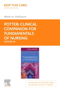 cover image - Clinical Companion for Fundamentals of Nursing - Elsevier eBook on VitalSource (Retail Access Card),10th Edition