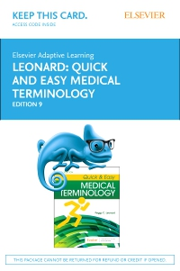 cover image - Elsevier Adaptive Learning for Quick & Easy Medical Terminology (Access Card),9th Edition