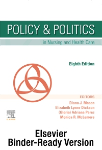 cover image - Policy & Politics in Nursing and Health Care - Binder Ready,8th Edition