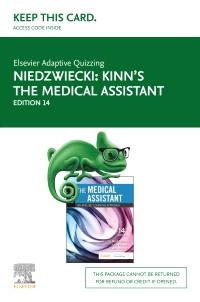 cover image - Elsevier Adaptive Quizzing for Kinn's The Medical Assistant (Access Card),14th Edition