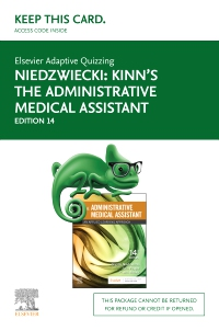 cover image - Elsevier Adaptive Quizzing for Kinn's The Administrative Medical Assistant (Access Card),14th Edition