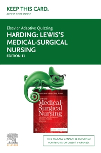 cover image - Elsevier Adaptive Quizzing for Lewis Medical-Surgical Nursing (Access Card),11th Edition