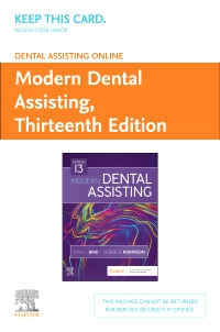 cover image - Dental Assisting Online for Modern Dental Assisting (Access Card),13th Edition