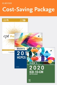 cover image - Buck's 2020 ICD-10-CM Physician Edition, 2019 HCPCS Professional Edition and AMA 2019 CPT Professional Edition Package
