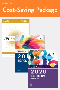 cover image - Buck's 2020 ICD-10-CM Hospital Edition, 2019 HCPCS Professional Edition and AMA 2019 CPT Professional Edition Package