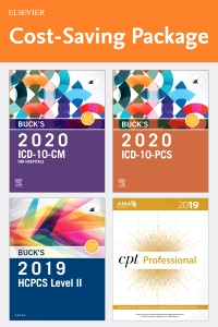 cover image - Buck's 2020 ICD-10-CM Hospital Edition, Buck's 2020 ICD-10-PCS Edition, 2019 HCPCS Professional Edition and AMA 2019 CPT Professional Edition Package