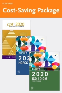 cover image - Buck's 2020 ICD-10-CM Physician Edition, 2020 HCPCS Professional Edition and AMA 2020 CPT Professional Edition Package