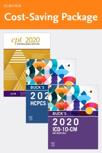 cover image - Buck's 2020 ICD-10-CM Hospital Edition, 2020 HCPCS Professional Edition and AMA 2020 CPT Professional Edition Package