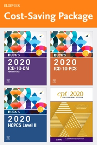 cover image - Buck's 2020 ICD-10-CM Hospital Edition, Buck's 2020 ICD-10-PCS Edition, 2020 HCPCS Professional Edition and AMA 2020 CPT Professional Edition Package