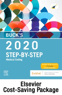 cover image - 2020 Step by Step Medical Coding Textbook, 2020 Workbook for Step by Step Medical Coding Textbook, Buck's 2021 ICD-10-CM Physician Edition, 2020 HCPCS Professional Edition, AMA 2020 CPT Professional Edition Package