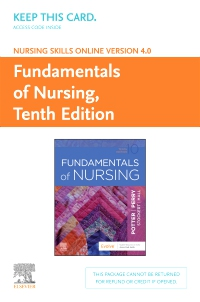 cover image - Nursing Skills Online Version 4.0 for Fundamentals of Nursing (Access Card),10th Edition