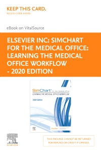 cover image - SimChart for the Medical Office: Learning the Medical Office Workflow - 2020 Edition Elsevier eBook on VitalSource (Retail Access Card)