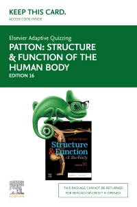 cover image - Elsevier Adaptive Quizzing for Structure & Function of the Human Body (Access Card),16th Edition