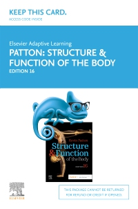 cover image - Elsevier Adaptive Learning for Structure and Function of the Body (Access Card),16th Edition