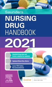 cover image - Saunders Nursing Drug Handbook 2021