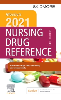 cover image - Mosby's 2021 Nursing Drug Reference - Elsevier eBook on VitalSource,34th Edition