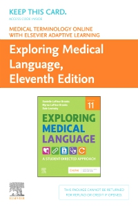 cover image - Medical Terminology Online with Elsevier Adaptive Learning for Exploring Medical Language (Access Card),11th Edition