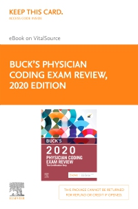 cover image - Buck's Physician Coding Exam Review 2020 Elsevier eBook on VitalSource (Retail Access Card)