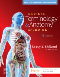 cover image - Medical Terminology Online with Elsevier Adaptive Learning for Medical Terminology & Anatomy for Coding,4th Edition