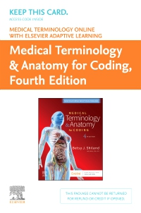 cover image - Medical Terminology Online with Elsevier Adaptive Learning for Medical Terminology & Anatomy for Coding (Retail Access Card),4th Edition