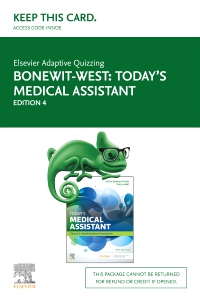 cover image - Elsevier Adaptive Quizzing for Today's Medical Assistant (Access Card),4th Edition