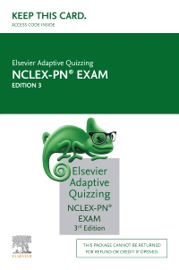 cover image - Elsevier Adaptive Quizzing for the NCLEX-PN Exam (Access Card),3rd Edition