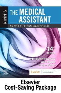 cover image - Kinn's The Medical Assistant - Text + Study Guide + Virtual Medical Office for Medical Assisting package,14th Edition