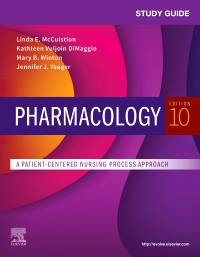 cover image - Study Guide for Pharmacology - Elsevier eBook on VitalSource,10th Edition