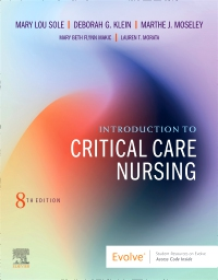 cover image - Evolve Resources for Introduction to Critical Care Nursing,8th Edition