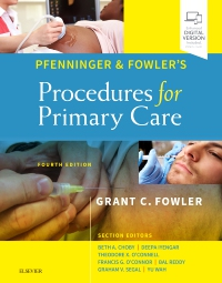 cover image - Pfenninger and Fowler's Procedures for Primary Care,Elsevier E-Book on VitalSource,4th Edition