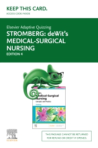 cover image - Elsevier Adaptive Quizzing for Medical-Surgical Nursing (Access Card),4th Edition