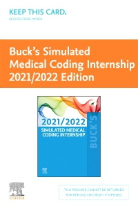 cover image - Buck's Simulated Medical Coding Internship 2021/2022 Edition (Access Card)
