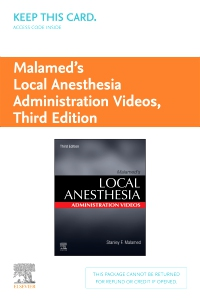 cover image - Malamed's Local Anesthesia Administration Videos - Access Code,3rd Edition