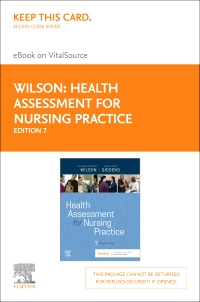 cover image - Health Assessment for Nursing Practice Elsevier eBook on VitalSource (Retail Access Card),7th Edition