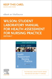 cover image - Student Laboratory Manual for Health Assessment for Nursing Practice - Elsevier eBook on VitalSource (Retail Access Card),7th Edition