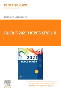 cover image - Buck's 2021 HCPCS Level II - Elsevier E-Book on VitalSource (Retail Access Card)