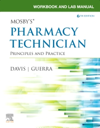 cover image - Workbook and Lab Manual for Mosby's Pharmacy Technician - Elsevier eBook on VitalSource,6th Edition