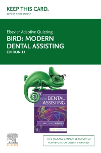 cover image - Elsevier Adaptive Quizzing for Modern Dental Assisting (Retail Access Card),13th Edition