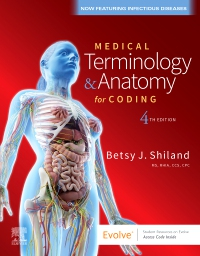 cover image - Medical Terminology & Anatomy for Coding Elsevier eBook on VitalSource,4th Edition