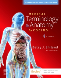 cover image - Medical Terminology & Anatomy for Coding Elsevier eBook on VitalSource (Retail Access Card),4th Edition