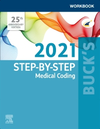 cover image - Buck's Workbook for Step-by-Step Medical Coding, 2021 Edition - Elsevier E-Book on VitalSource