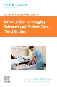 cover image - Mosby's Radiography Online: Introduction to Imaging Sciences and Patient Care (Access Code),3rd Edition