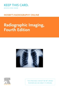 cover image - Mosby's Radiography Online: Radiographic Imaging (Access Code),4th Edition
