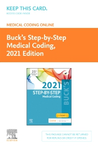 cover image - Buck's Medical Coding Online for Step-by-Step Medical Coding, 2021 Edition Access Card