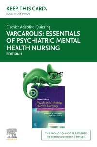 cover image - Elsevier Adaptive Quizzing Essentials of Psychiatric Mental Health Nursing (Access Card),4th Edition